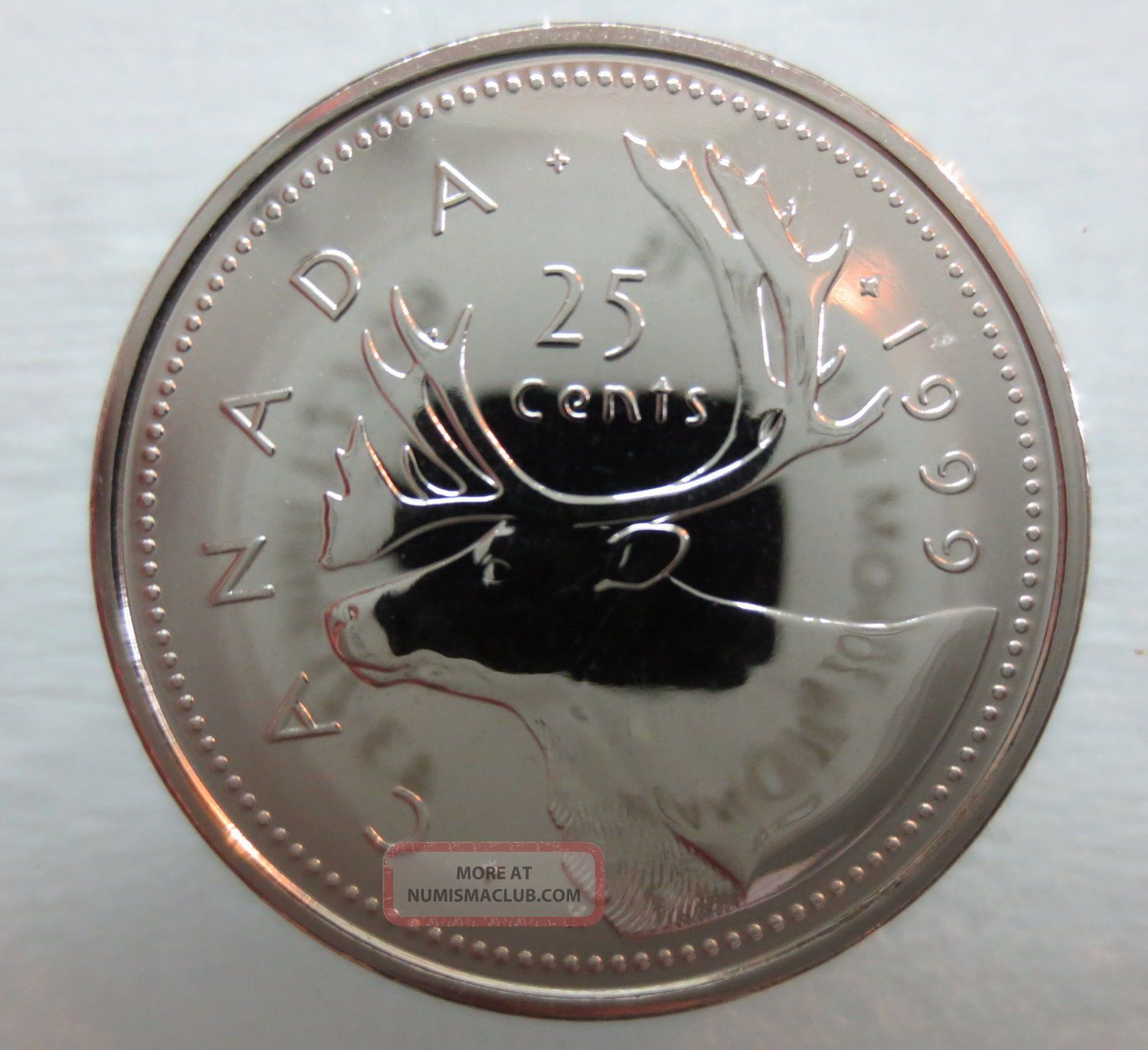 1999 Canada 25 Cents Proof Like Coin A