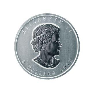 2012 $5 Dolar Canadian Silver Maple Leaf Signature 1 Oz Coin 58 photo