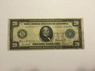 $20 San Francisco 1914 Federal Reserve Twenty Dollar Note photo
