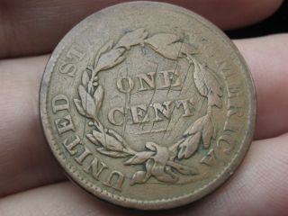 1835 - 1839 Matron Head Large Cent Penny - Vg Details photo
