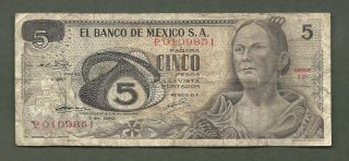 Mexico 5 Pesos 9851 99 Cents Or Less photo