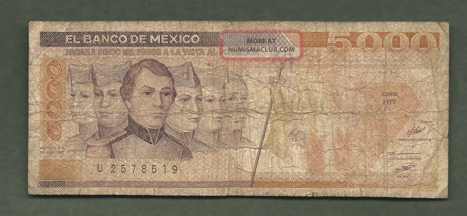 Mexico 1987 5000 Pesos 8519 99 Cents Or Less