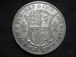 1931 Great Britain George V Half Crown Silver Coin No Res photo