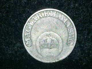 1926 Hungary 20 Filler Coin photo