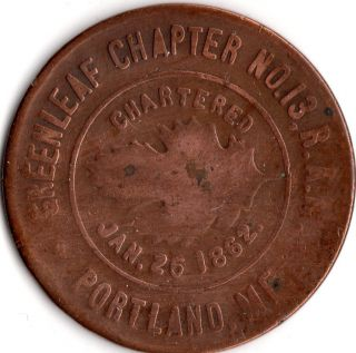 Portland Maine Masonic Trade Token photo