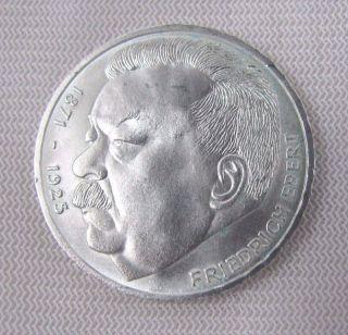 1975 German 5 Mark With Friedrich Ebert 1871 - 1925 - 5 Deutsche Mark photo