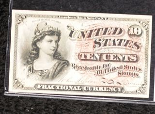 4th Issue Fractional 10 Cents Fr1257 - Crisp Note photo