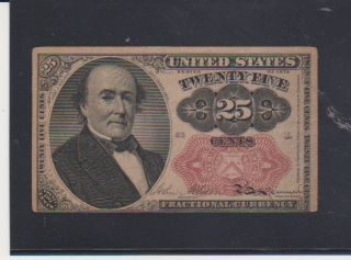 Us Fractional Currency 25 - Cent Note 5th Issue Doesn ' T Look As It Was Circulated photo