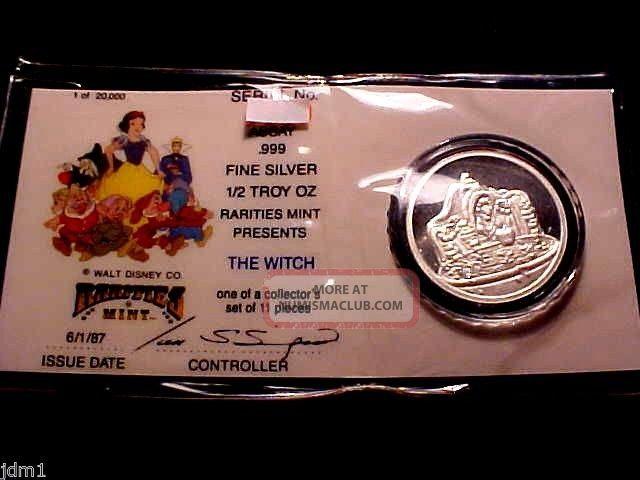 Disney Witch 1 2 Oz 999 Fine Silver Coin Round W
