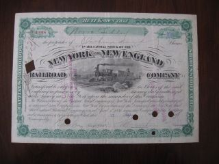 York And England Railroad Company Stock Certificate 40918 1891 photo