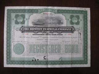 The Boston Terminal Company Registered 50 Year Bond No.  9041 1947 photo