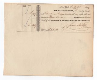 1839 Mohawk And Hudson Railroad Company Stock Transfer photo