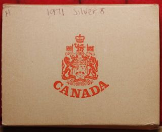 1971 Canada Silver Dollar Foreign Coin In A Box S/h photo