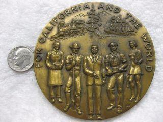 1870 - 1970 Crocker Bank100th Anniversary Commemorative Bronze Medal Token Coin photo
