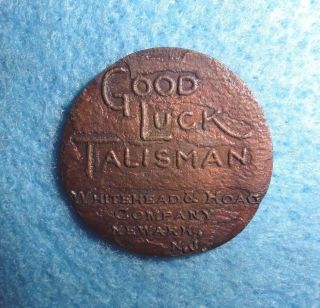 Good Luck Swastika Token - - The Whitehead & Hoag Co.  Newark,  N.  J.  1927,  Swacade photo