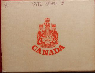 1972 Canada Silver Dollar Foreign Coin In A Box S/h photo