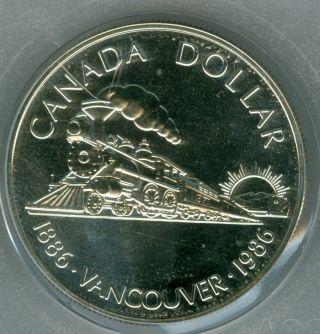 1986 Canada Silver Vancouver Dollar Top Grade Sp Specimen Proof. photo