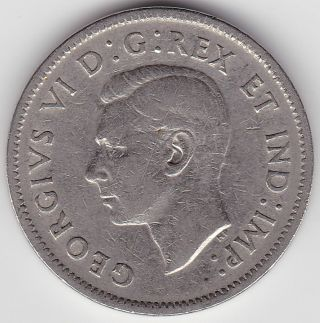 1941 Canada 5c Coin - Rotated Dies And Skinny Beaver photo