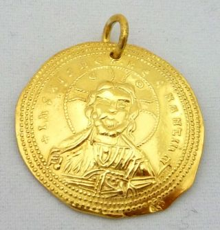 Romanus Iii Argyrus,  Byzantine Coin,  Gold,  Pendant photo