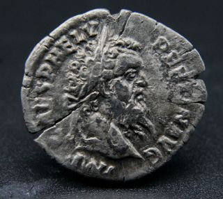 Roman Silver Denarius Of Pertinax 193 Ad Rev: Ops Rare, photo
