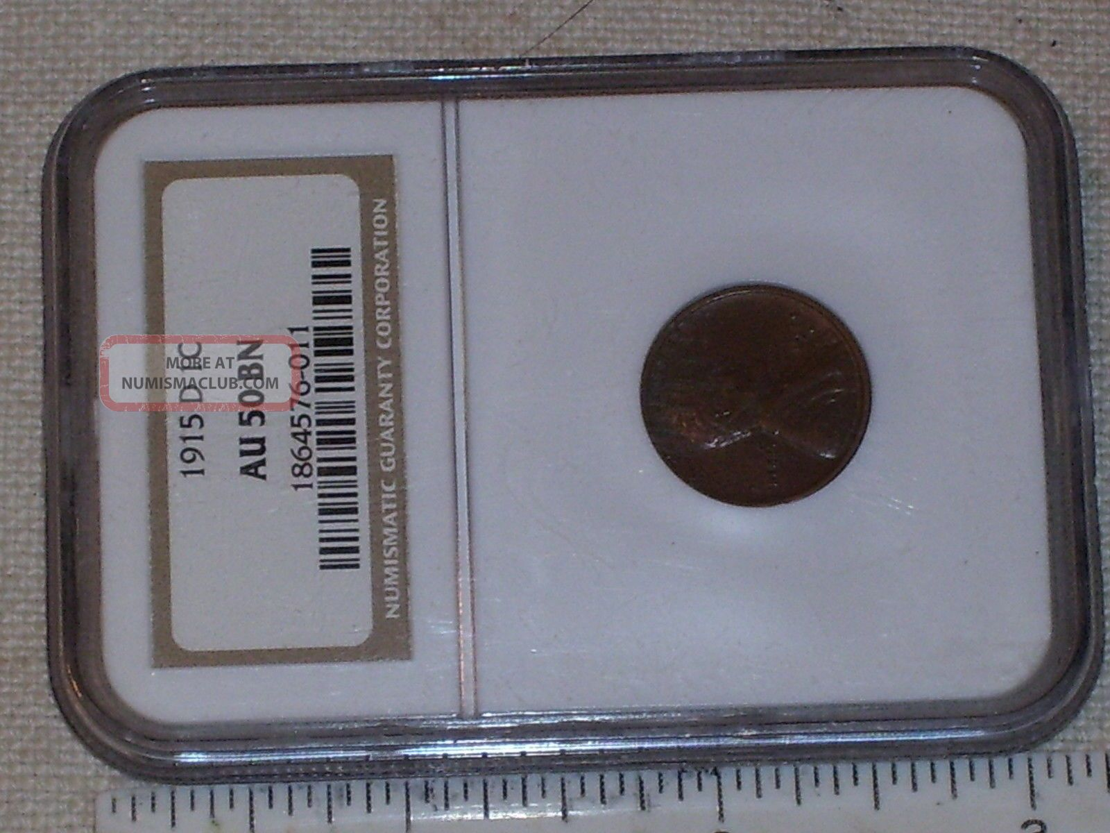 Vintage Coin Us 1915 D Lincoln Head Cent Graded Au50 Bn By Ngc Small Cents photo