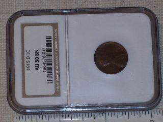 Vintage Coin Us 1915 D Lincoln Head Cent Graded Au50 Bn By Ngc photo