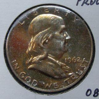 1962 Franklin Silver Half Dollar Gem Proof G1835 photo