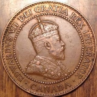 1909 Canada Large Cent Xf Gem Great Penny Traces Of Red photo