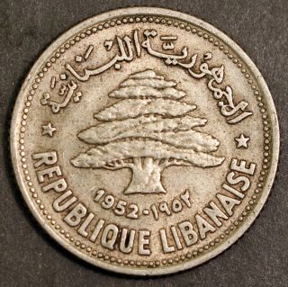 Lebanon 1952 50 Piastres,  Km 17,  Us photo