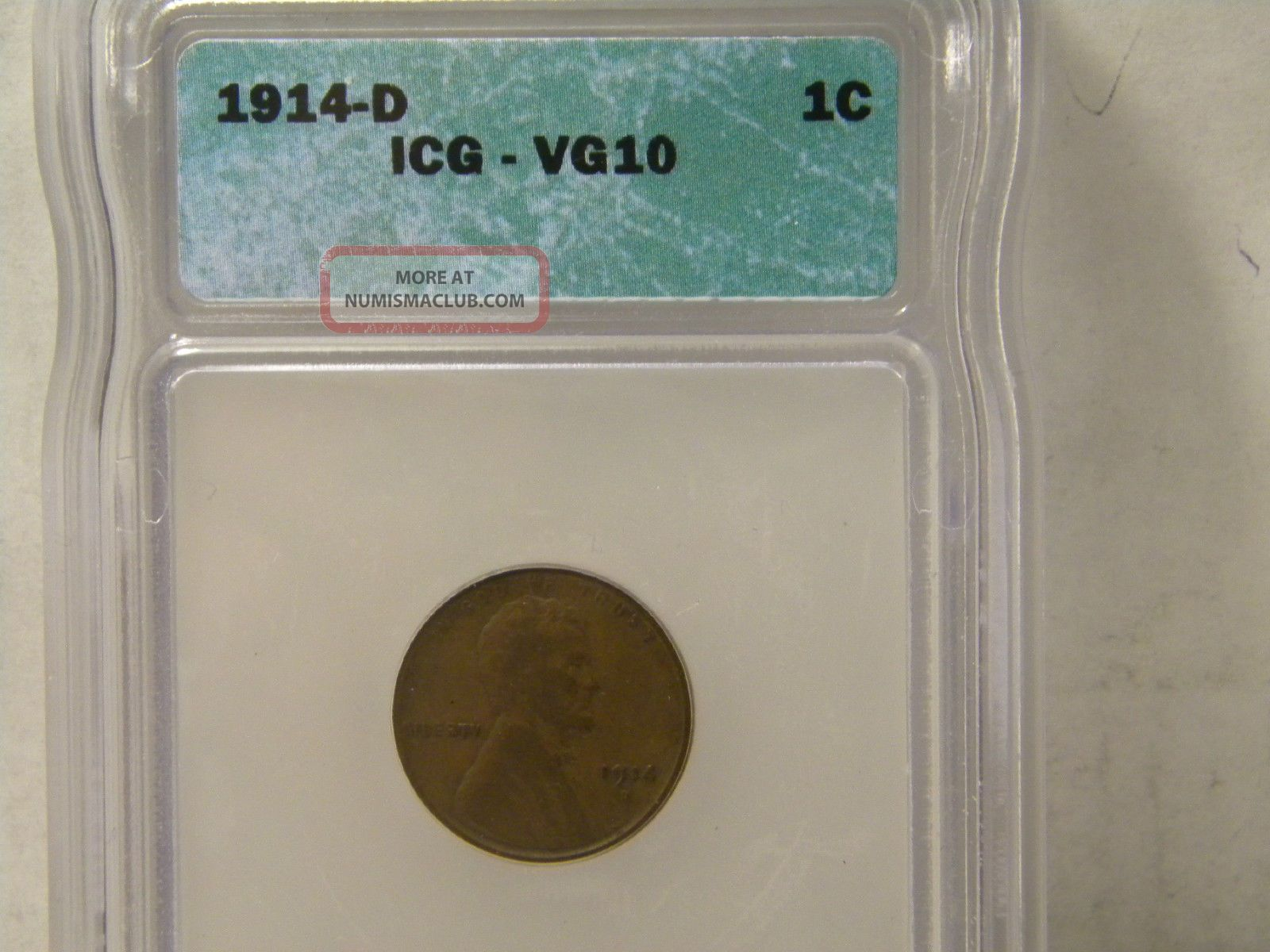 Lincoln Penny 1914d Icg Vg 10 Coin Small Cents photo