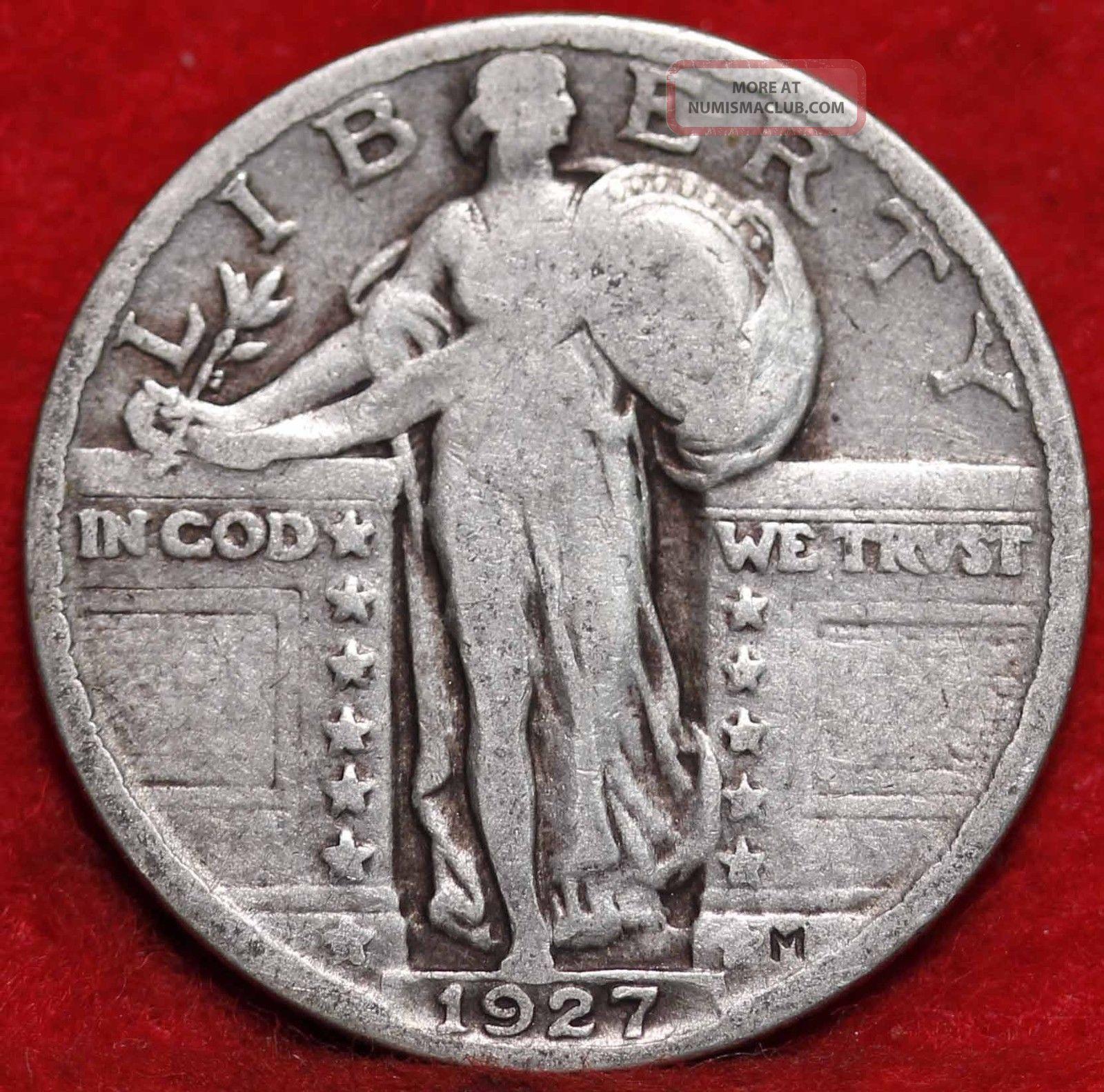 1927 Philadelphia Silver Standing Liberty Quarter