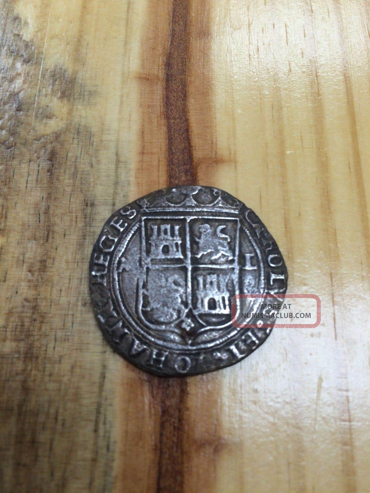 Mexico 1542 1555 Nd Mo L 4 Reales Charles Amp Johanna