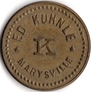 Marysville Washington Ed Kuhnle Merchant Good For Trade Token photo