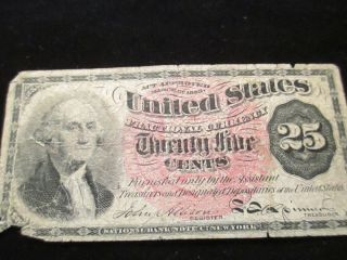 Bargain Us Fractional Currency 25 - Cent Note 4th Issue 1869 - 75 Very Good 220 photo