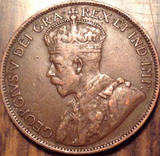 1918 Canada Large Cent King George V Very Old Penny Loook photo