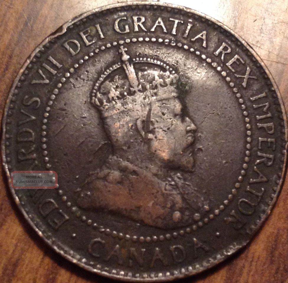 1902 Canada Large Cent King Edward Vii Very Old Penny Loook