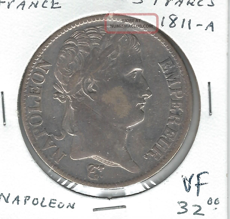 France Silver 5 Francs 1811 - A Napoleon France photo