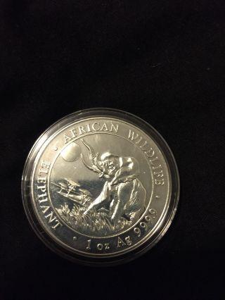 2016 Somalia 1oz Silver Elephant Coin photo