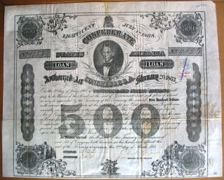 Confederate States Of America Loan Richmond Virginia 1863 Civil War Usa Cr 124 photo