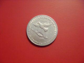Nicaragua 50 Centavos,  1994 Coin.  Dove photo