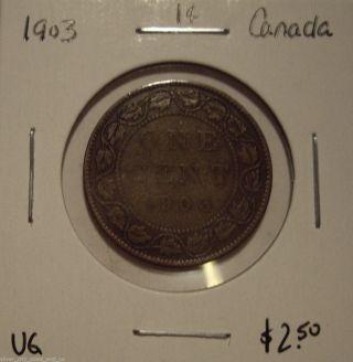Canada Edward Vii 1903 Large Cent - Vg photo