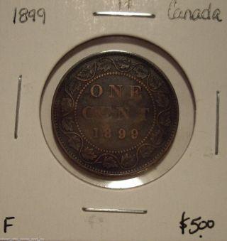 Canada Victoria 1899 Large Cent - F photo
