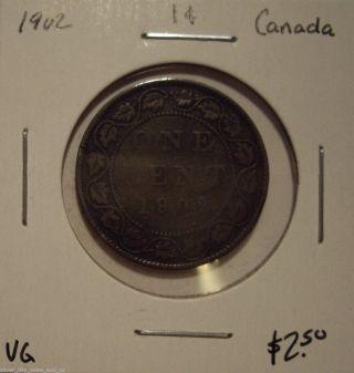 Canada Edward Vii 1902 Large Cent - Vg photo