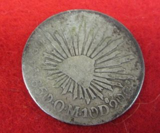 8 Reales 8r Zs 1850 - O - M - 10d.  20g.  First Republic Mexican Silver Coin 1850 photo