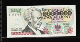 Poland 2 000 000 Zlotych 1993 Gem Unc - Rare photo