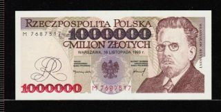 Poland 1 000 000 Zlotych 1993 Gem Unc - Rare photo