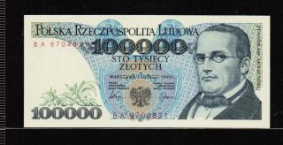 Poland 100000 Zlotych 1990 Gem Unc photo