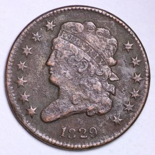 1829 Classic Head Half Cent Choice Fine E112 Ht photo