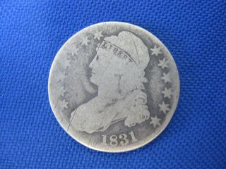 1831 U.  S Capped Bust Half Dollar 50 Cent Silver Coin photo