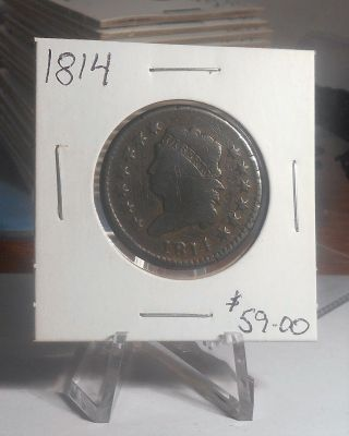 1814 Classic Head Large Cent Priced To Sell photo